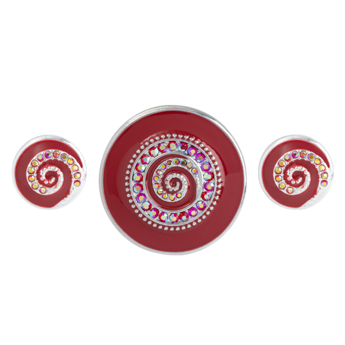Red Whirl Statement Set